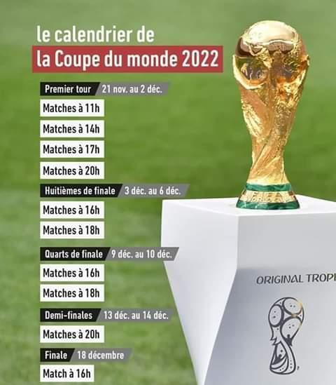 Calendrier Foot Féminin Coupe Du Monde 2022 FOOTBALL : Le calendrier complet de la Coupe du monde 2022 dévoilé